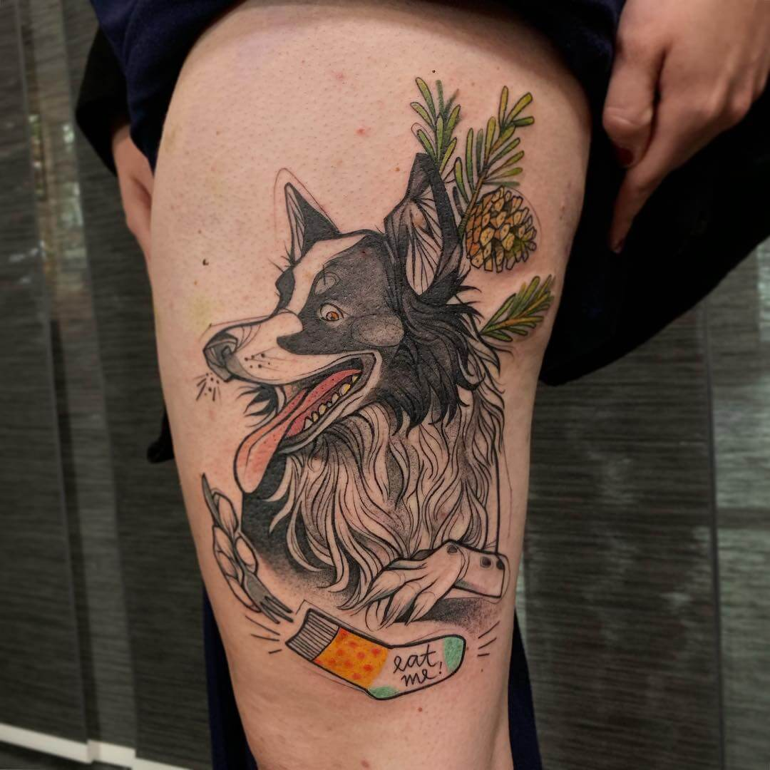 Illustratives Tattoo von Kleinhutt