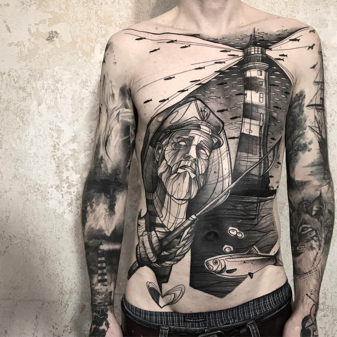 Tattoo Stil: Schwarze Tattoos