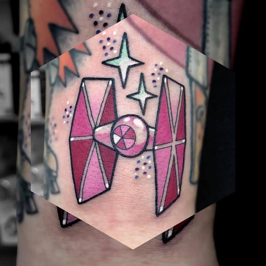 Rosa TIE Fighter Tattoo